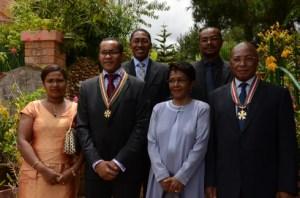 Les deux leaders du MDM ont été promus Commandeur de l'ordre national. (Photo : Yvon Ram)