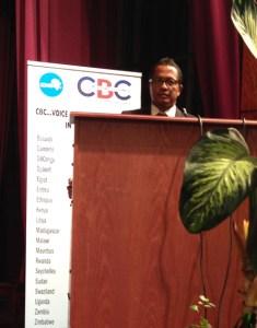 Erick Rajaonary, le PDG du Guanomad était à la tribune du COMESA.