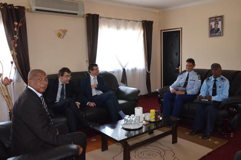 Secrétaire d'Etat à la Gendarmerie : Visite de l'attaché de défense  américaine