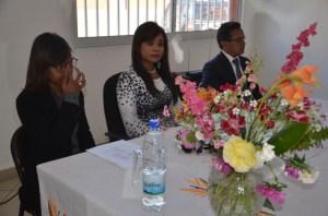 Le ministre de la Culture et son équipe lors de la conférence de presse à la salle Gisèle Rabesahala Anosy. (Photo : Kelly)