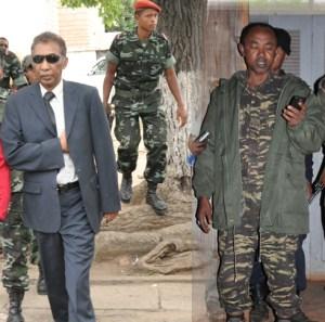Le général Raoelina (à gauche sur la photo) et le colonel Raymond (à droite sur la photo) croupissent toujours à la maison de force de Tsiafahy.