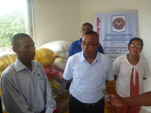 BNGRC : 63 sacs de riz blanc pour les sinistrés de Toamasina I