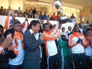 Le président de la Ligue d'Analamanga, Tota, est très heureux de voir ses deux équipes en finale de la Telma Coupe.
