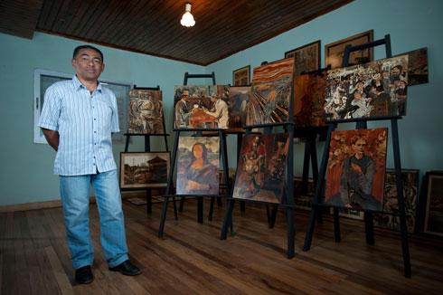 Marqueterie fine : Les œuvres de grands peintres revisitées par Rajao Andrianirina !