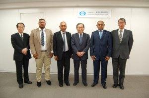 Lors de la visite du ministre des Ressources Halieutiques, Ahmad, au Japon.