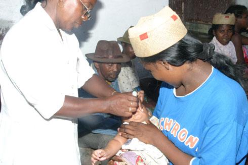 Polio : 6,3 milliards d'ariary pour la 3e campagne de vaccination