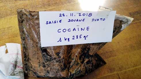 Trafic de stupéfiants : 1 285 grammes de cocaïne saisis par la Douane à Ivato