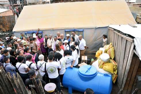 Secteur privé : Des citernes et des PPN pour les sinistrés d'Anosibe