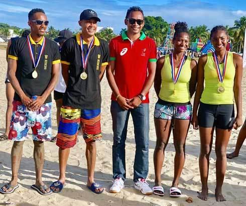 Beach volley : Stef'Auto et Mama raflent la mise !