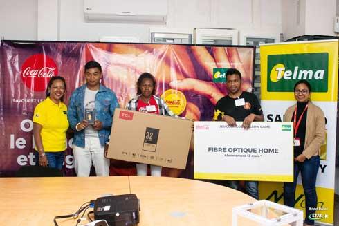 « Coca-cola Yellow Game » : Des lots distribués aux 20 gagnants dans tout Madagascar
