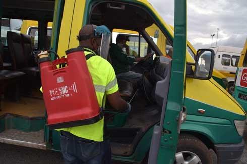 Transport public : Dernière désinfection des bus par l'association Fitia hier