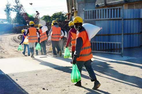 Stade Barea Mahamasina : Des dons pour les employés malagasy
