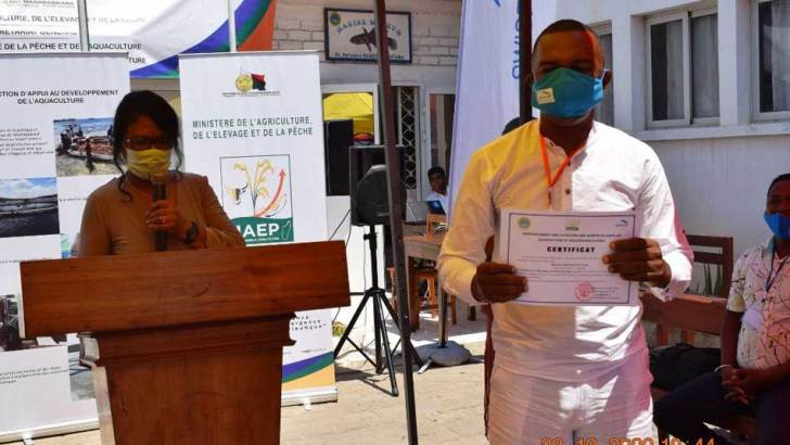 Algoculture et holothuriculture :Formation des agents de pêche dans la région Atsimo-Andrefana