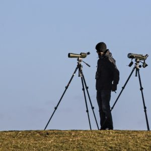 surveillance with spotting scope