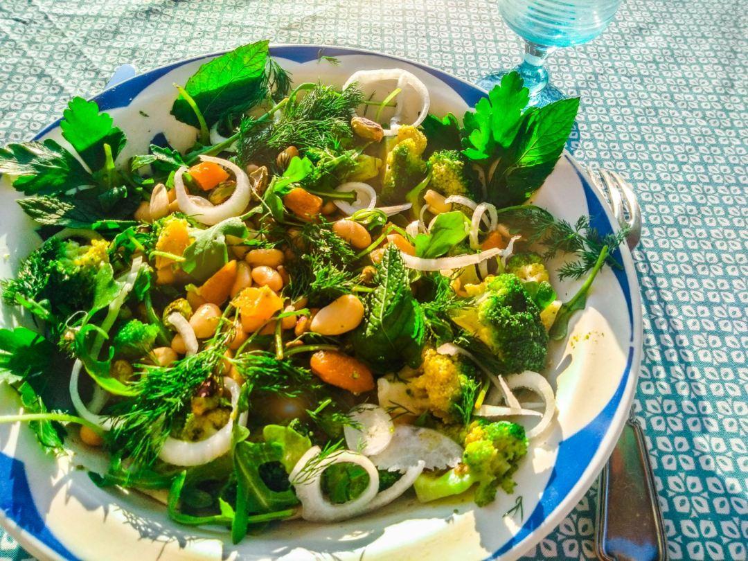 Une salade riche en calcium !