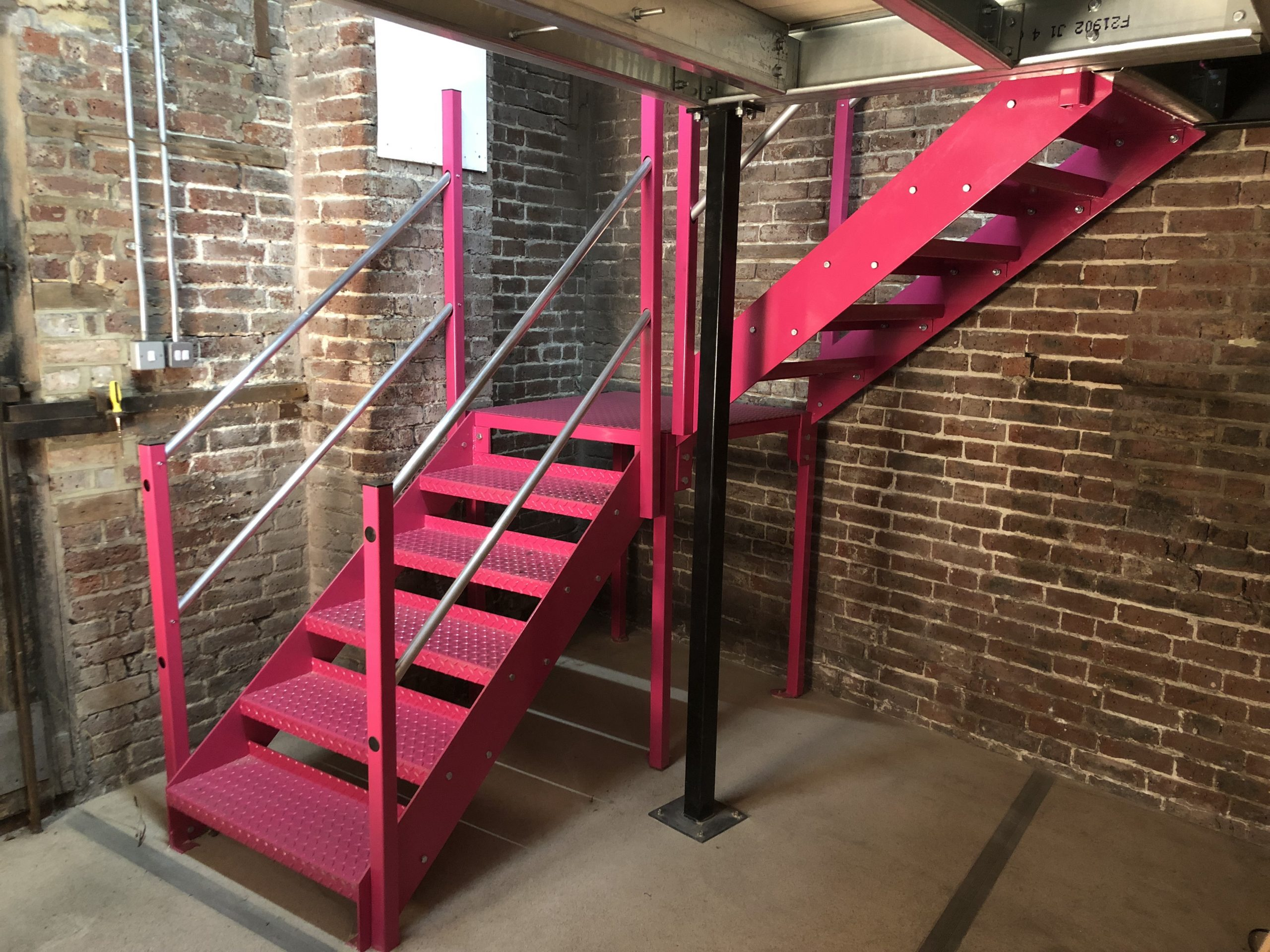 Pink Steel Staircase