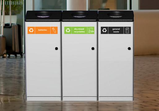MES Ireland  Single Recycle Bins Metal