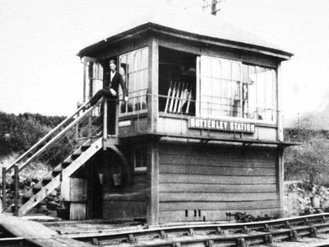 Butterley Station Signal Box in the 1930s