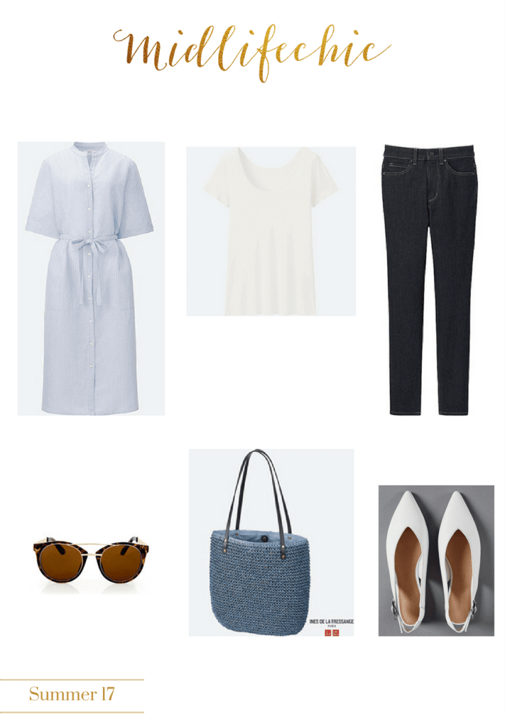 linen and denim at Uniqlo