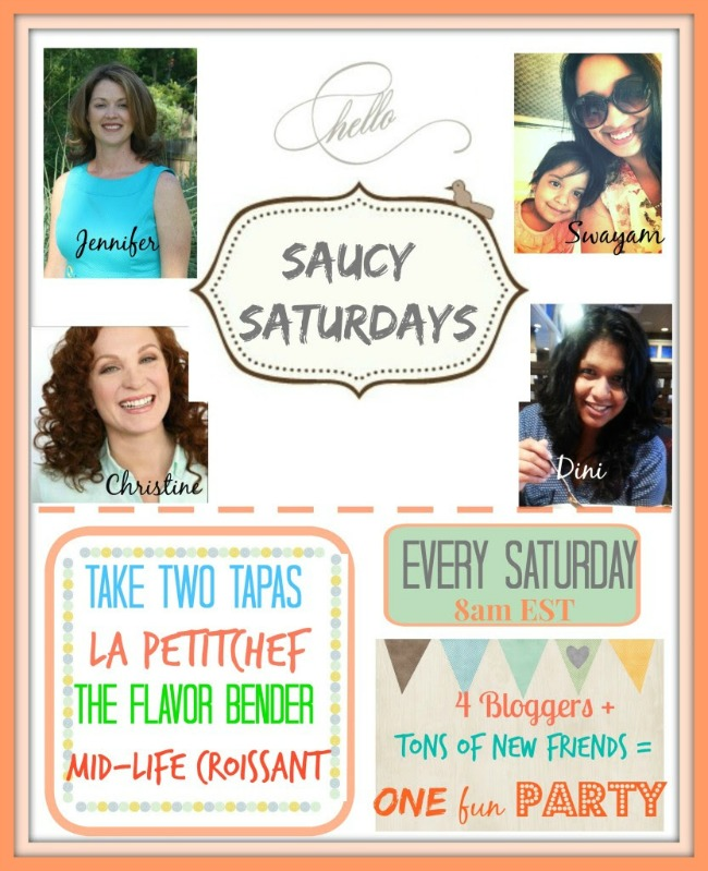 Your hosts for the Saucy Saturdays blog hop