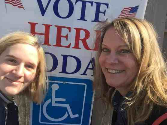 Voting for the first time with my daughter. A happy memory that's a little bittersweet now.