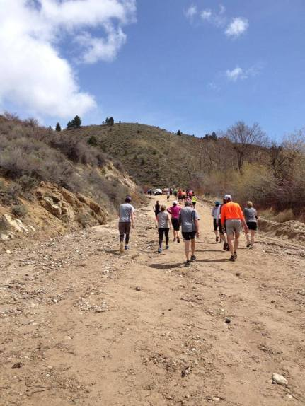 Race to Robie Creek - Approaching the summit