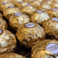 Gold wrapped Ferrero Rocher
