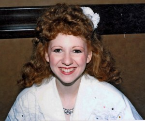Bonny Langford, with curly red hair