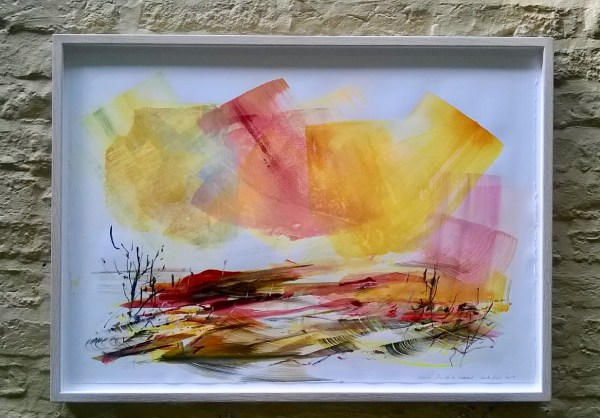 Framed painting by award winning artist Lesley Birch