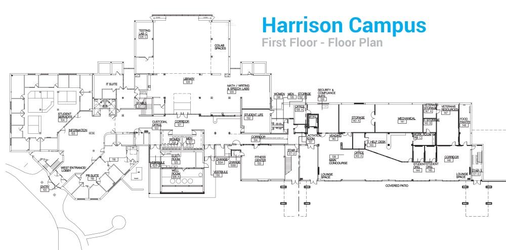 medium resolution of harrison campus first floor floor plan