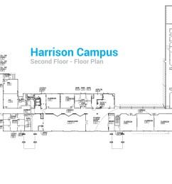 harrison campus second floor floor plan [ 5067 x 2281 Pixel ]