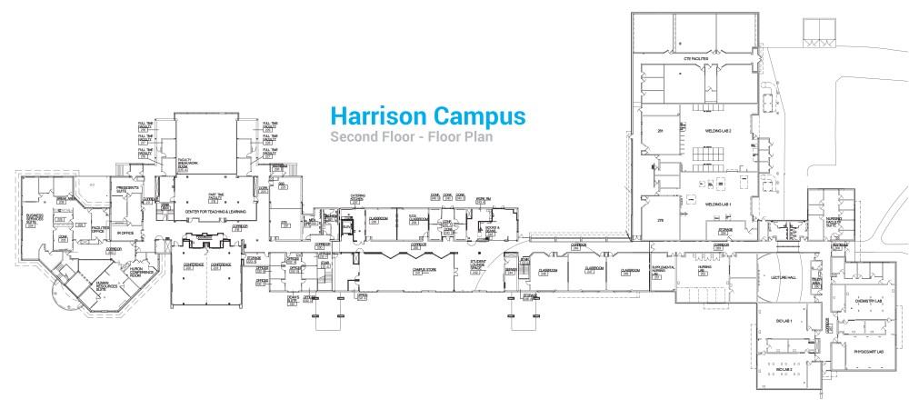 medium resolution of harrison campus second floor floor plan