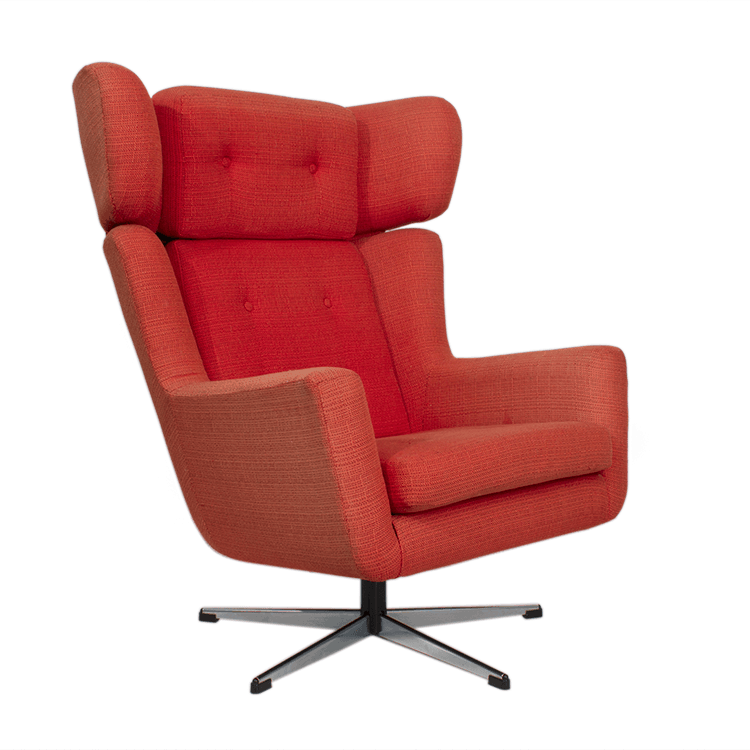 dr evil chair covers and sashes leeds lounge img 5733 midmod decor danish modern with red wool upholstery steel swivel base