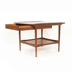 Teak Sofa Table Fixing A Broken Arm Pair Of 1960s Open Cube Side Tables In