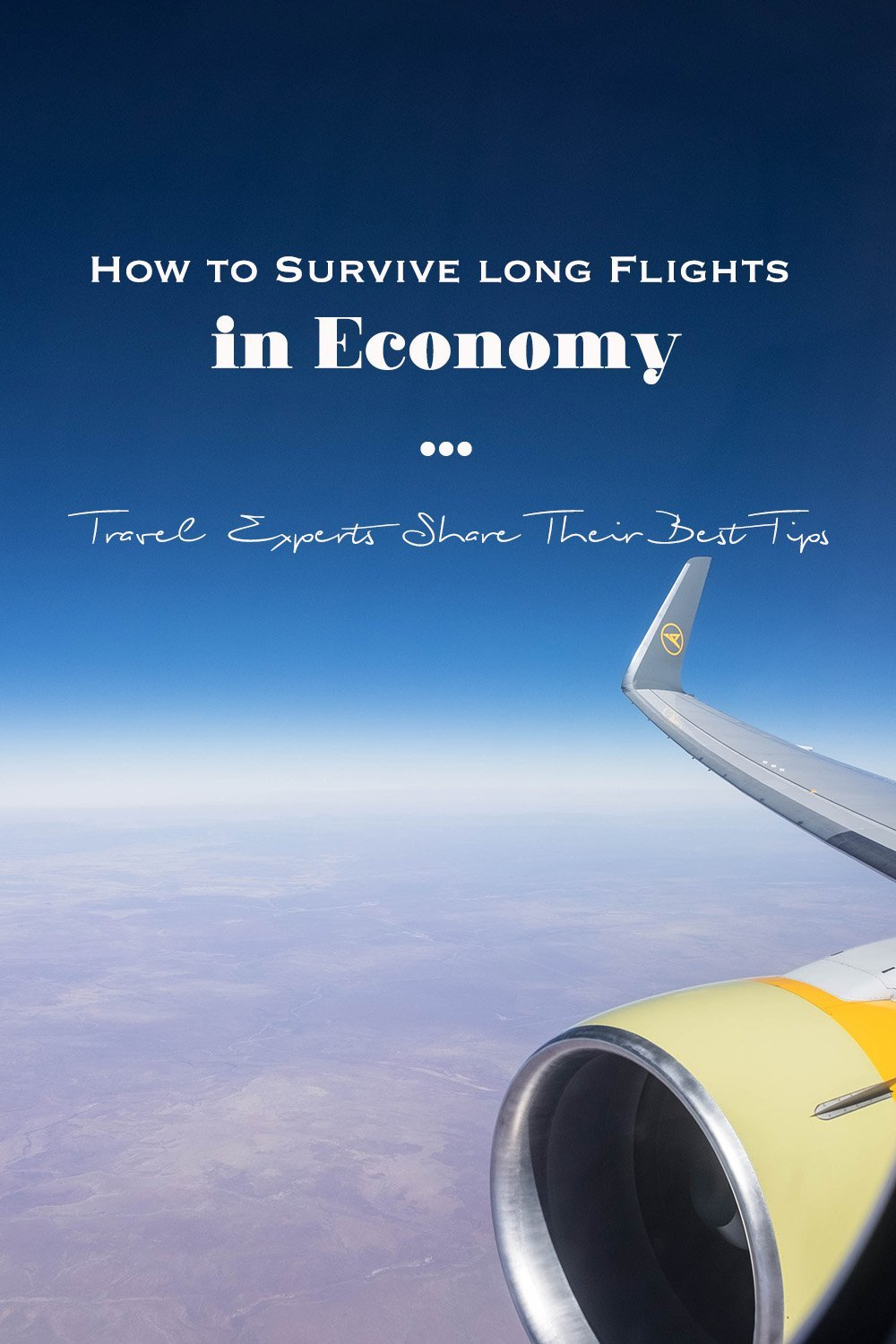 Need some tips on how to survive long flights in economy? I gathered some awesome travel experts with their best advice for flying including choosing an upgrade with Condor's Premium Economy Class. #southafrica #airline #plane #condor