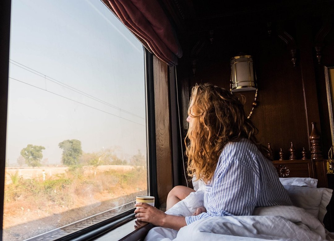 All aboard the Maharajas Express, the premier luxury train in India! If you want to travel in style & see highlights of India, this train is the way to go.
