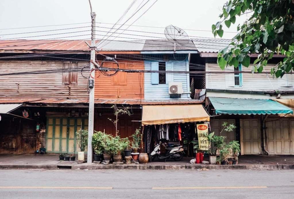 Old town street in Bangkok