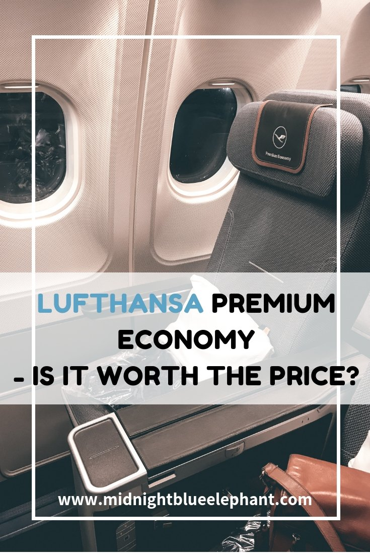 Lufthansa Premium Economy Review: Frankfurt to Cape Town - what to except and if a premium economy class ticket worth the price. Read all about the service on board, the seat, the food and how you can use the business class lounge at the airport when upgrade from economy to premium economy class with Lufthansa.  #capetown #lufthansa #premiumeconomy #airplane