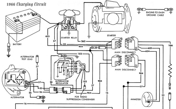 1966 Mustang 289 Engine Regulator Wiring Diagram To
