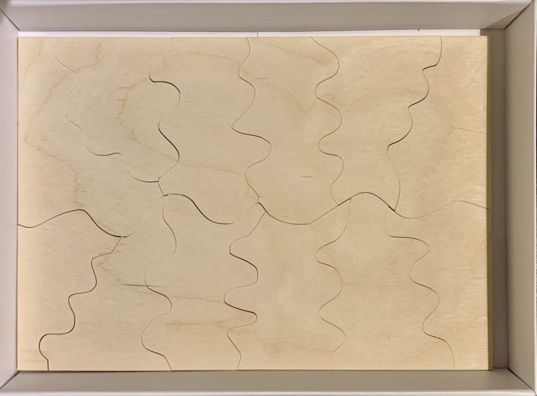 12 Piece Handmade Sliding Wooden Jigsaw Puzzle
