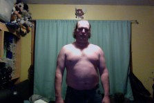 Fat guy transformation (I hope) week 1 of 15 for WHG training. Shirtless, gut hanging out, not flexed.