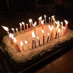 For some reason, there's 45 candles on my 27th birthday cake ;-)