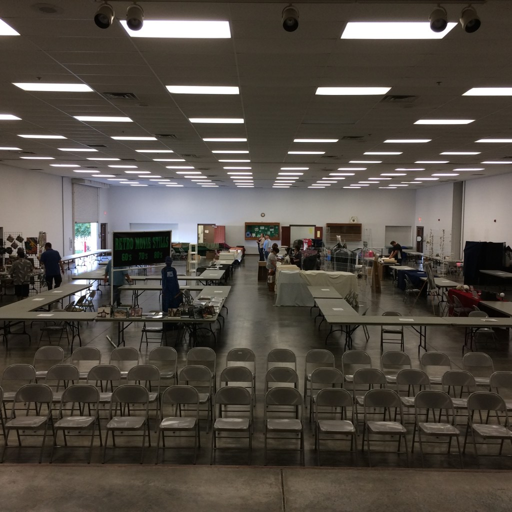 ICT ComicCon during setup on Friday