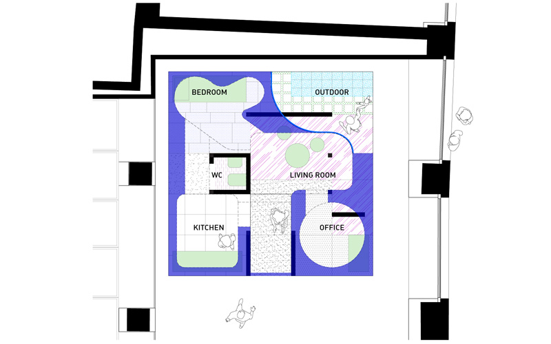Plan for Florim Exhibition Competition in Milan.