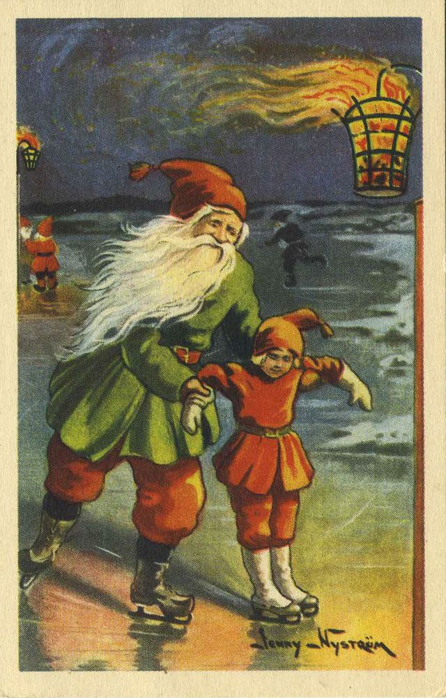 Swedish God Jul Cards A Vintage Swedish Christmas Card