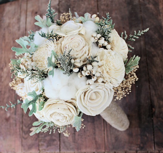 gorgeous wood flower bouquets