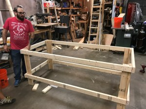 Claudio Woodworking Table
