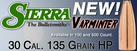 New Sierra Varminter 30 Caliber Bullets