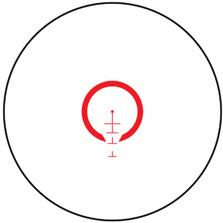 AR 1-4x24mm Throw Down PCL First Focal Plane BTR Reticle