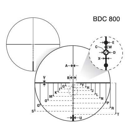 P-Tactical .308 4-12x40 BDC800 Reticle Matte